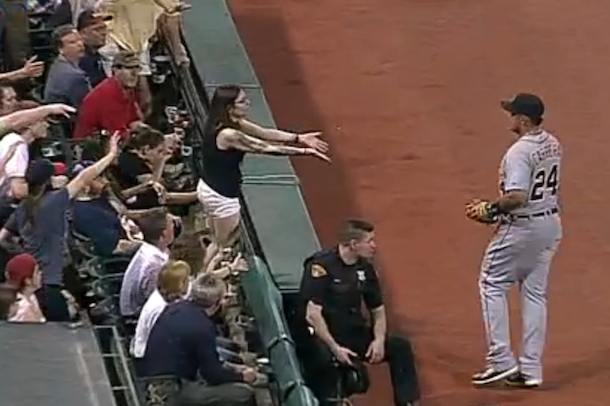 miguel cabrera burns female fan