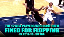 The 12 NBA Players Who Have Been Fined for Flopping in 2012-13…So Far