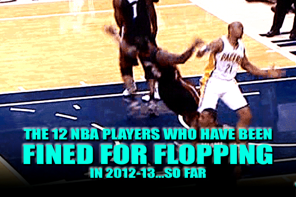 nba flopping fines 2012-13