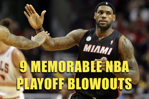 nba playoff blowouts - most lopsided playoff games