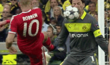 Arjen Robben's Shot to Dortmund Keeper's Face Sums Up Champions League Final (GIF)
