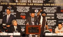 "Roberto Guerrero's Dad Calls Floyd Mayweather Jr. a ""Woman Beater"" During Press Conference (Videos)"