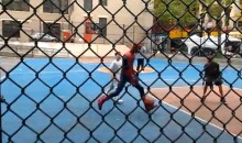 Andrew Garfield Plays Basketball in a Spider-Man Costume (Video)