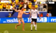 Streaker Interrupts Germany-Ecuador Friendly in Boca Raton (Video)
