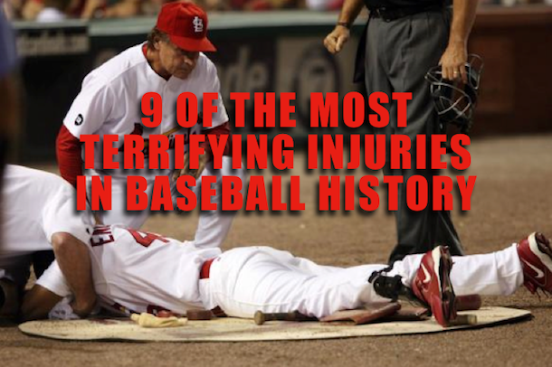 terrifying on-field baseball injuries