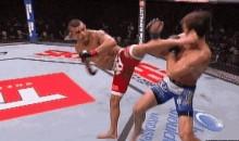 Vitor Belfort KO's Luke Rockhold With a Spinning Heel Kick (GIF)