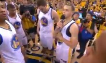 Despite Elimination, Classy Warriors Players Took Time to Thank Their Fans Last Night (Video)