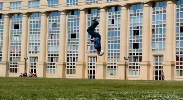 world record pogo stick backflips