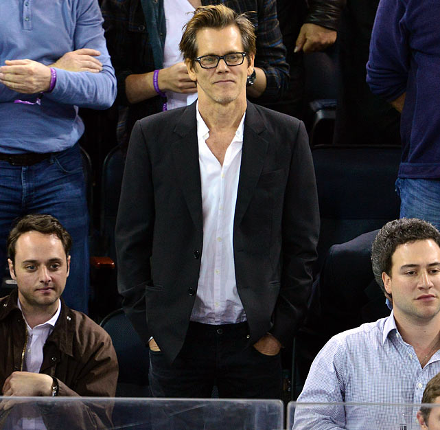 11 kevin bacon at eastern conference quarterfinals (rangers) - celebs at stanley cup playoffs