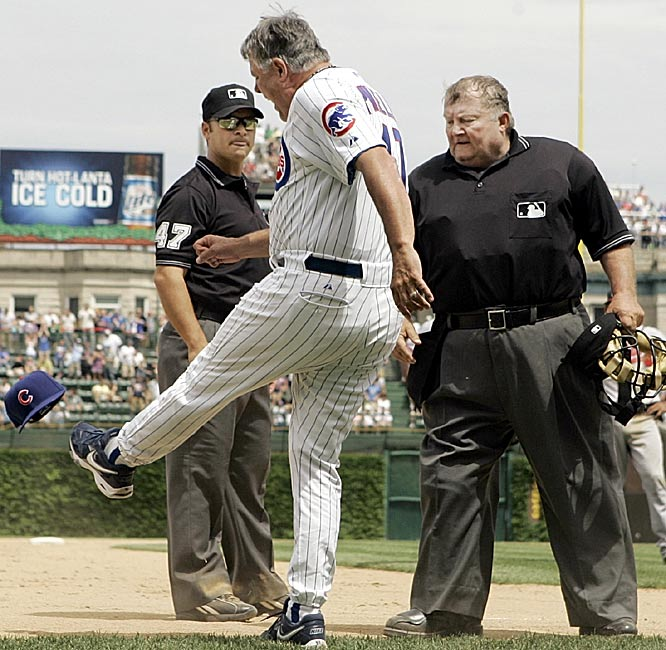 11 lou piniella cubs kicking hat - most ejected mlb managers (manager ejections)