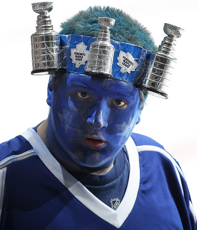13 leafs fan stanley cup headband - crazy nhl fans stanley cup playoffs