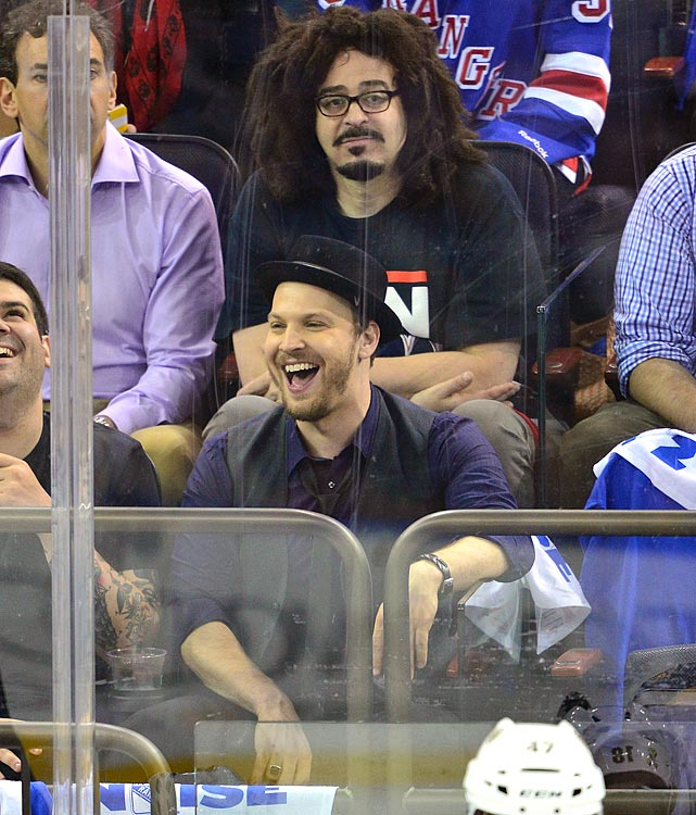 20 adam duritz and gavin degraw at eastern conference semifinals - celebs at stanley cup playoffs