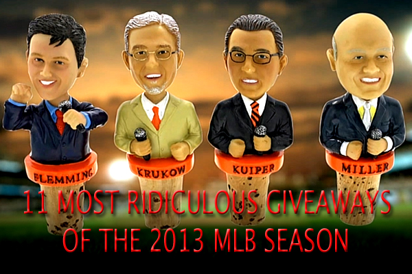 2013 MLB Promotions Giveaways