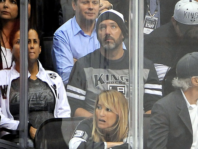 23 trey parker at game 7 western conference semifinals - celebs at stanley cup playoffs