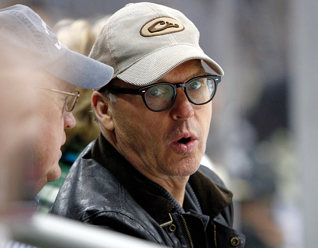 24 michael keaton at game five of eastern conference semifinals (pittsburgh) - celebs at stanley cup playoffs