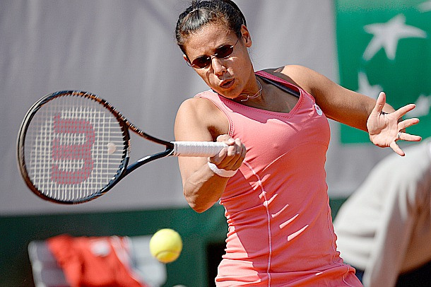 29 Stephanie Foretz Gacon wearing helen kellar sunglasses - 2013 French Open Fashion