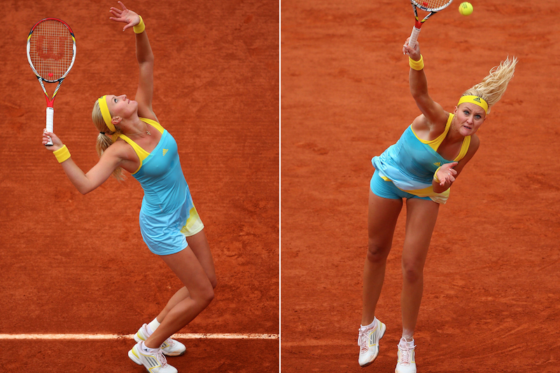3 Kristina Mladenovic - 2013 French Open Fashion