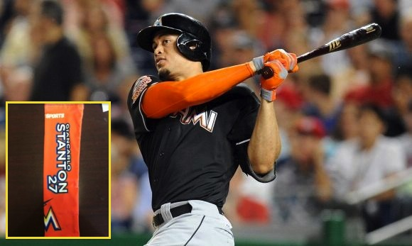 4 giancarlo stanton arm sleeve - 2013 mlb promotions