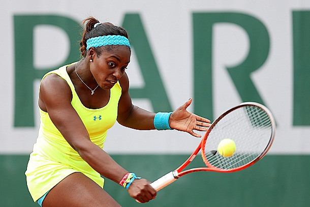 4 sloane stephens neon underarmour dress - 2013 French Open Fashion