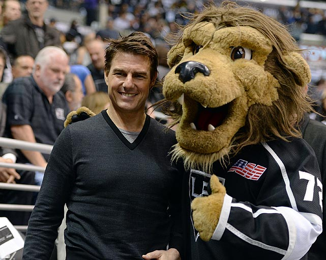 4 tom cruise at game five western conference semifinals - celebs at stanley cup playoffs