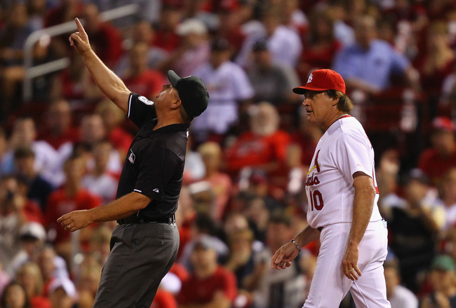 5 Tony Larussa Cardianls - most ejected mlb managers (manager ejections)