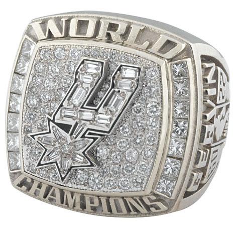 6 Spurs 2003 NBA Championship Ring Malik Rose - Stolen Championship Rings