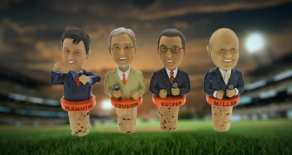 6 giants announcers bottle stoppers - 2013 mlb promotions