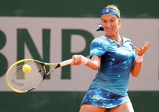 7 Svetlana Kuznetsova in Qiaodan starry night outfit - 2013 French Open Fashion