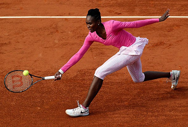 8 Venus Williams leggings - 2013 French Open Fashion