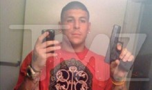 Photo Emerges of Aaron Hernandez Flaunting His Gun in the Mirror