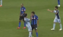 Alessandro Nesta Channels His Inner Zinedine Zidane, Headbutts Opponent (Video)