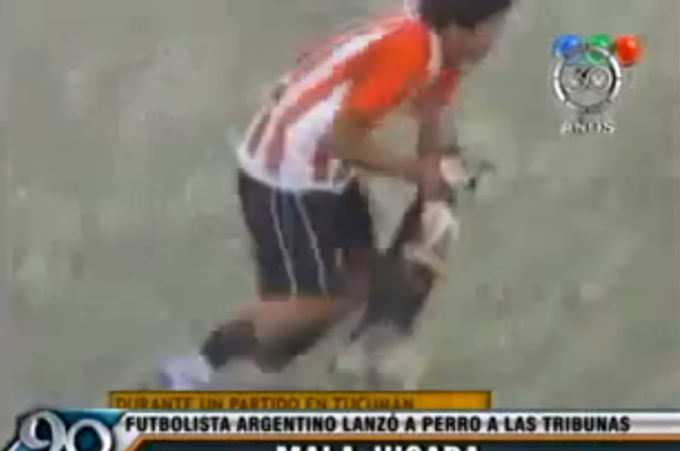 argentine soccer player animal cruelty