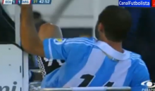 Argentina's Javier Mascherano Handed Red Card for Kicking the Medic Carrying Him Off the Field (Video)