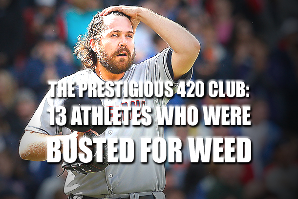 athletes busted for weed