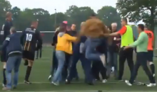 Turns Out One-Legged Soccer Brawls Are Just as Entertaining as Two-Legged Soccer Brawls (Video)