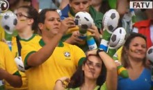 Brazilian Soccer Fan Proves That Not All Brazilians Can Dance (Video)