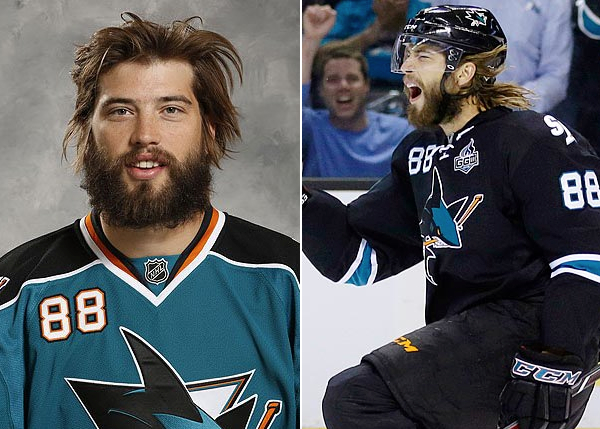 brent burns - honorable mention playoff beard