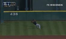 Carlos Gomez Had to Run Up a Hill To Make This Impressive Catch (Video)