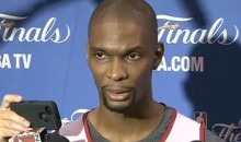 "Chris Bosh Tells Fairweather Heat Fans to ""Just Stay Home for Game 7″ (Video)"