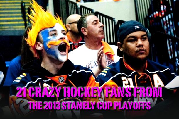 crazy hockey fans stanley cup playoffs 2013