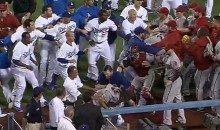 Brawl Erupts Between Dodgers and Diamondbacks After Three Beaned Batters  (Videos)
