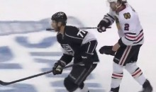 Duncan Keith Slashed Jeff Carter in the Face Accidentally…on Purpose (Video)