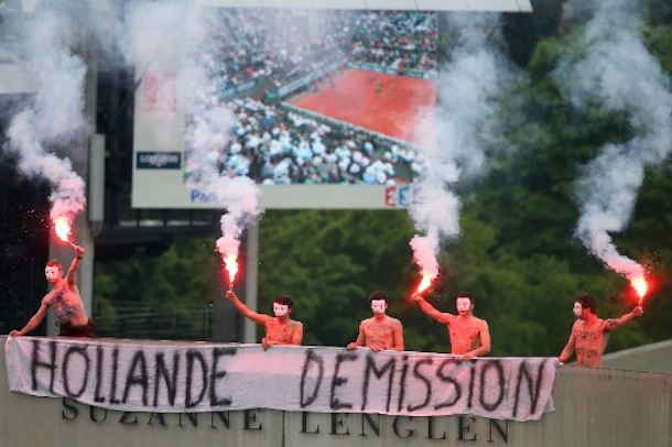 french open protestors 2
