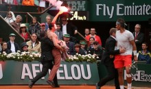 Shirtless Protesters with Road Flares Interrupted Yesterday's French Open Final (Video + Pics)