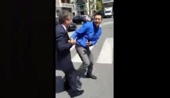 genoa president kick reporter