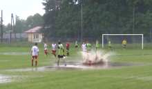 Amateur Polish Soccer Players Celebrate By Diving Into Puddles (Video)