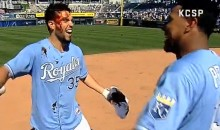 After Game-Winning Hit, the Royals' Eric Hosmer Takes Traditional KC BBQ Sauce Pie to the Face (Video)