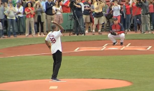 Jason Collins Throws Out First Pitch at Red Sox Game (Video)