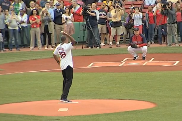jason collins first pitch red sox game