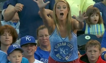 Some Kid Stole a Ball from a Smoking Hot Blonde at the Royals Game Last Night (Video)